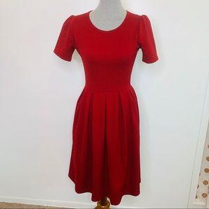 ⭐️3/$25⭐️ Lularoe Amelia a Line Dress Red